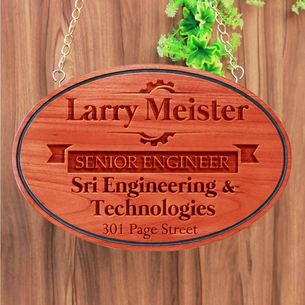 Wooden Name Plates For Engineers. Hanging Engineer Sign. This Business Sign and Office Name Plate Make Great Gifts For Engineers, gifts for mechanical engineers, gifts for civil engineers, gifts for engineering students, gifts for electrical engineers