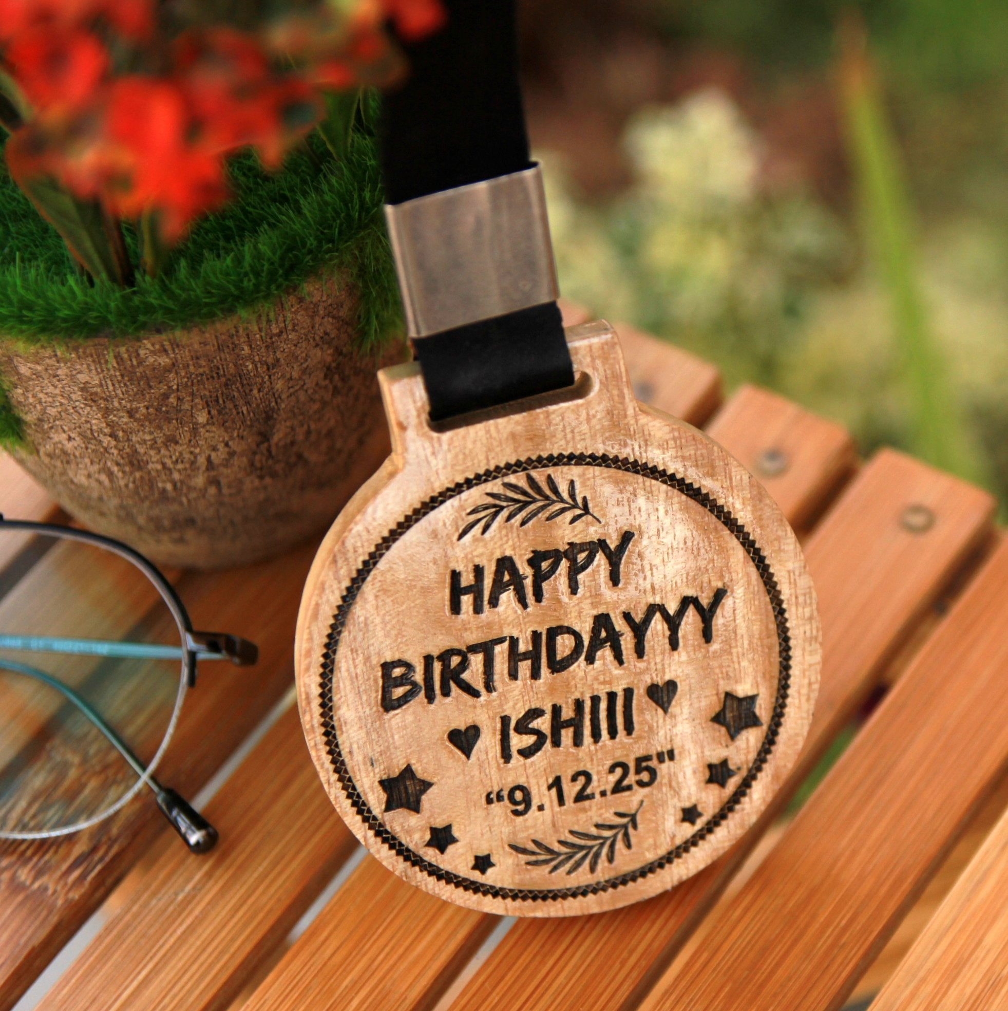 Custom Medals As Birthday Gifts For Her Customised With A Birthday Message