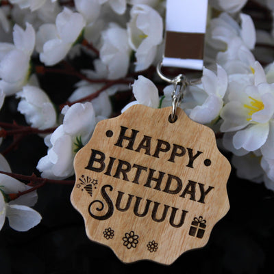 This Custom Medal Engraved With A Birthday Message Is The Best Birthday Gift For Sister. Looking for gifts for sister? This Birthday Greetings Engraved On This Wooden Medal Is A Great Personalized Gift.