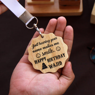 Customize Your Own Wooden Medal With Birthday Wishes As Gift For Husband or Boyfriend.