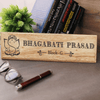 Auspicious Home Name Plate. House Name Plate. Custom Wooden Name Plate Engraved With Name & Address. Ganesh Name Plate Makes Great Diwali Gifts Or Ganesh Chaturthi Gifts.