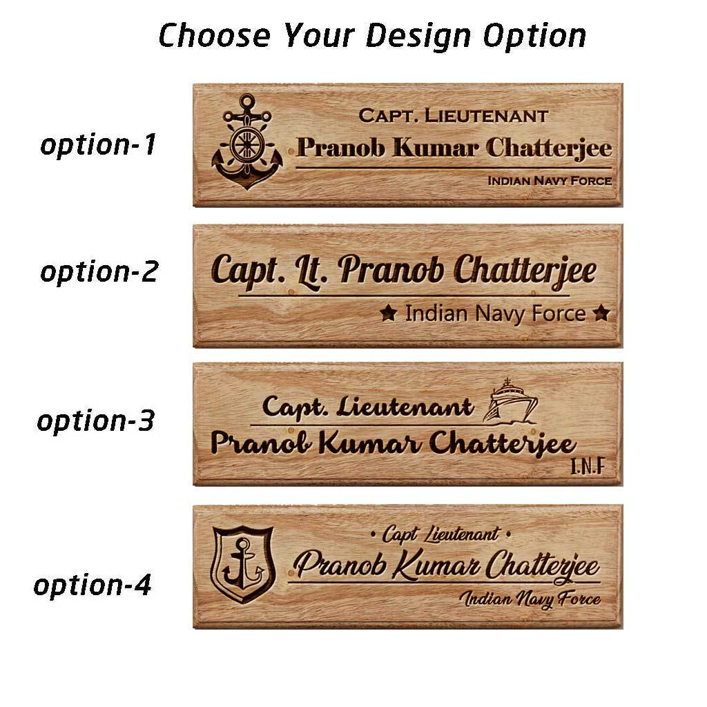 Personalized Wooden Name Plates For Navy Officers