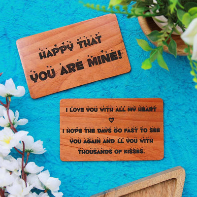Personalized Wooden Greeting Cards - These Romantic Cards Make Affordable Gifts For Boyfriend Or Girlfriend - Looking For Valentine Love Cards? These Wooden Cards Make One Of The Best Romantic Gifts For Him And Her.