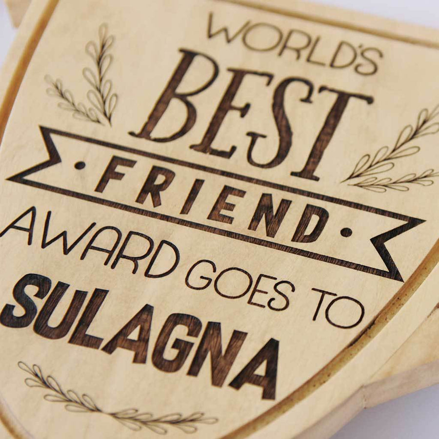 World's Best Friend Trophy Cup. A Best Friend Award Makes Great Best Friends Gifts. This Custom Trophy Make Great Birthday Gift Ideas for Best Friend. Looking for friendship day gifts for friends? This will make unique gifts for friends.