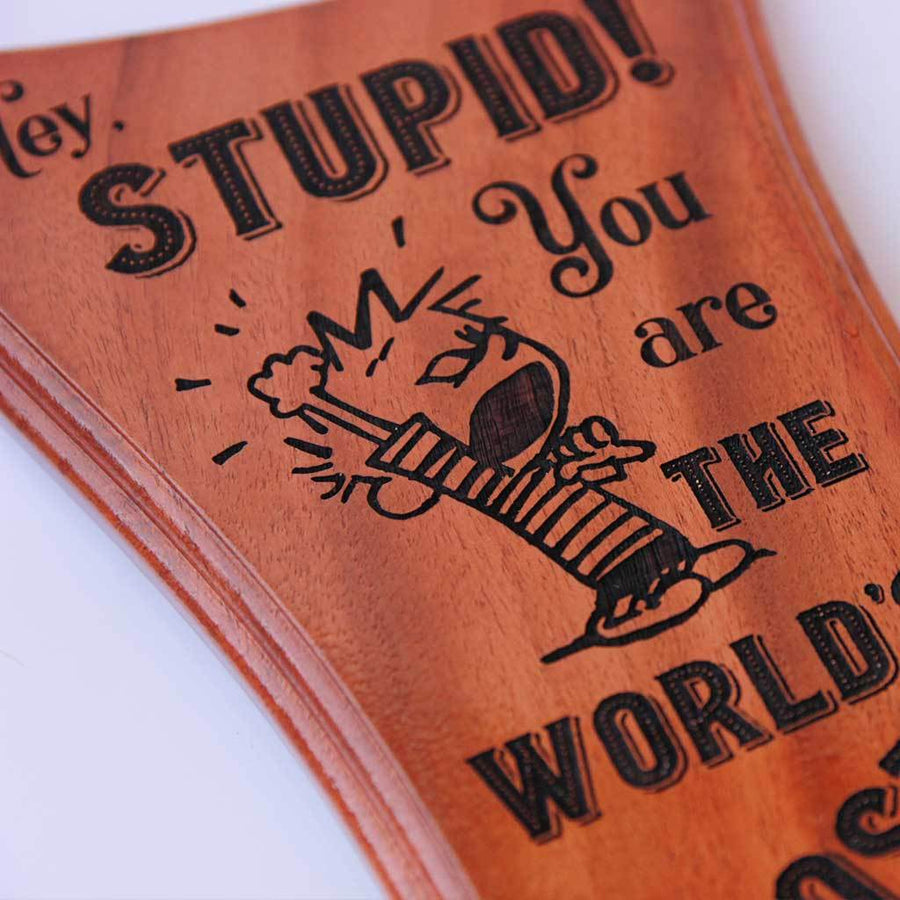 World's Most Annoying Brother Award Standee. This is a custom wooden trophy that can be engraved with your brother's name. This funny award makes one of the best gifts for brother.