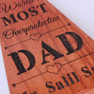 World's Most Overprotective Dad Award for Dad. This is one of the best gifts for dad, Father's Day gift or birthday gift for him.