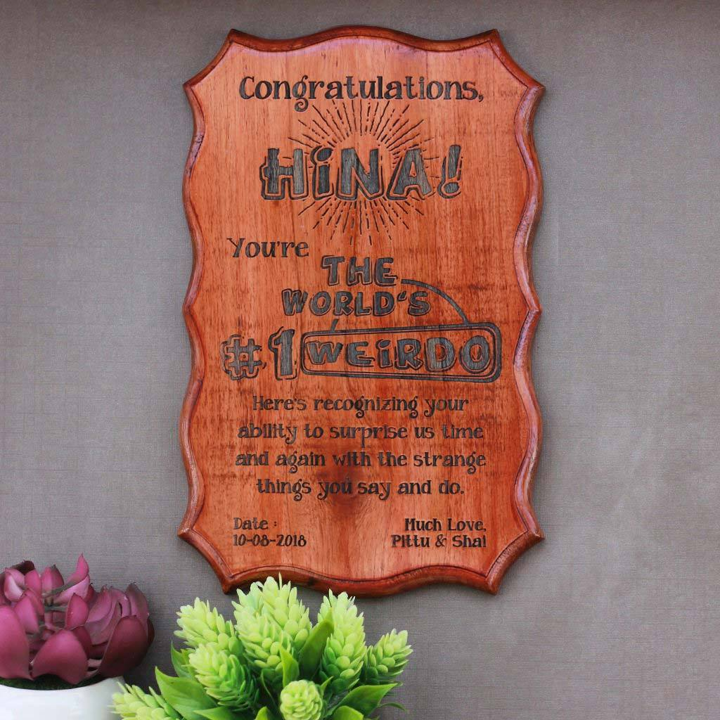 The Biggest Foodie Humorous Awards - Wooden Certificate - Funny Certificates for Friends - Humorous Awards - Woodgeek Store