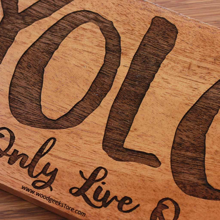 YOLO Wood Sign | YOLO Wood Wall Poster | Wood Art - Woodgeek Store
