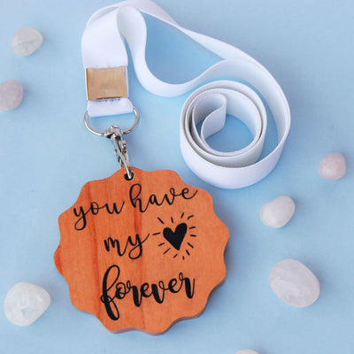 You Have My Heart Forever Wooden Medal. These Custom Medals Make One Of The Most Romantic Gifts For Him And Her. Purchase Custom Medals Online From The Woodgeek Store