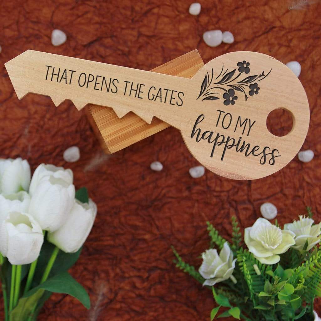 Your love is the master key that opens the gates to my happiness. These key-shaped wooden signs make unique gifts for boyfriend, romantic gifts for girlfriend, best gift for wife, birthday gifts for husband, anniversary gifts or Valentine's Day gifts. These personalised wooden plaques can be customized with wood engraved photo and name.