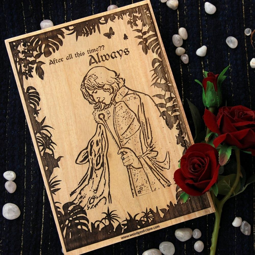Harry Potter: Snape & Lily Always Carved Wooden Poster
