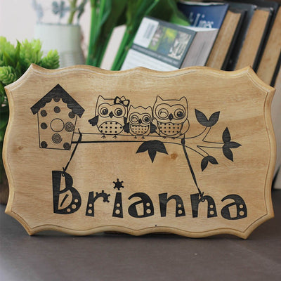 Custom Engraved Wooden Signs - Wood Name Signs for Baby Room - Baby Shower Gifts - Personalized gifts for Newborn Baby - Gifts for New Parents by Woodgeek Store