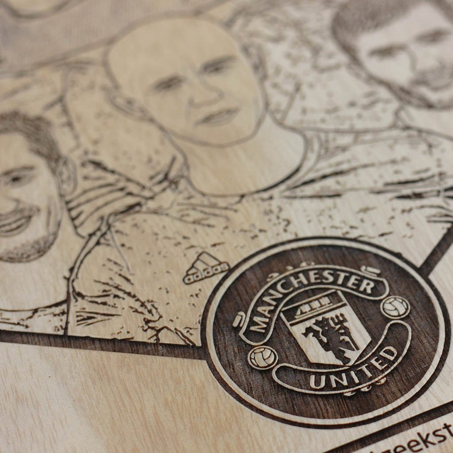 Class of 92 Wooden poster - Manchester United Wooden Wall Poster - Gifts for Football Fans by Woodgeek Store