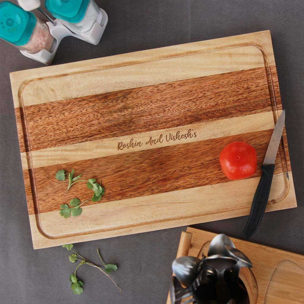 Personalized Cutting Board With Name Engraved Wooden Chopping Boards Woodgeekstore