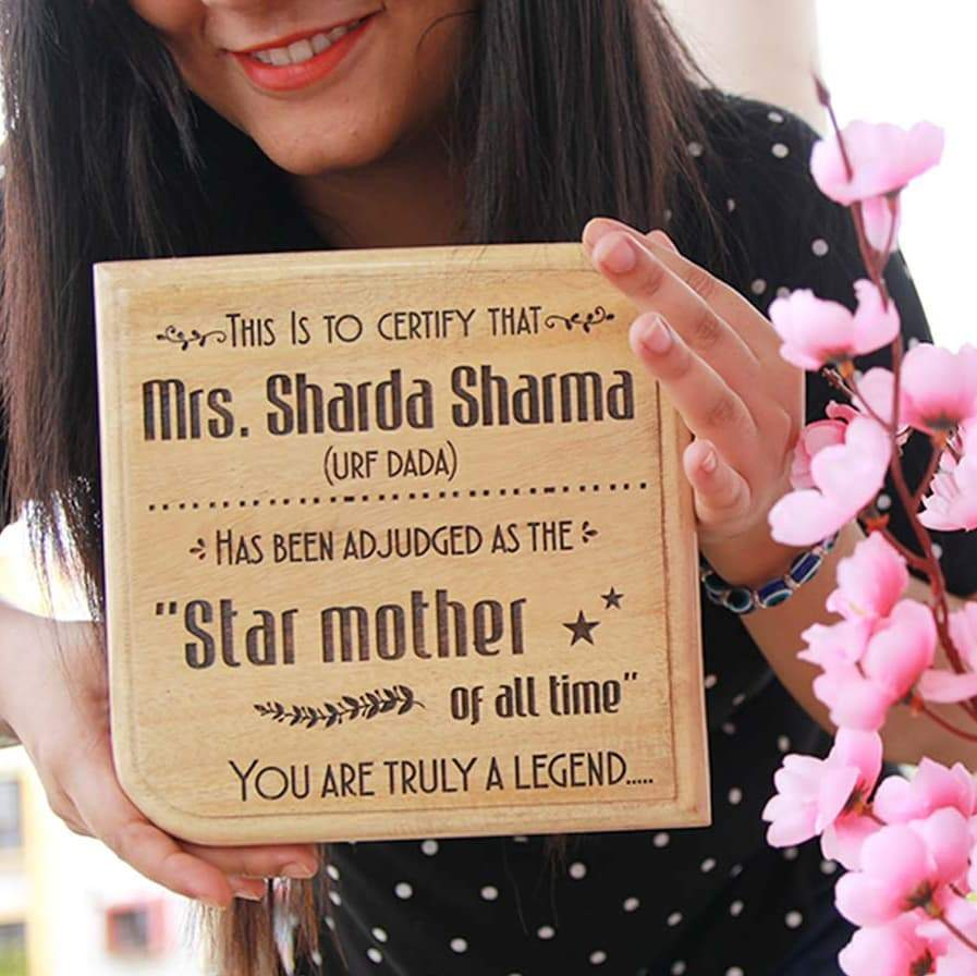 Star Mom Award Plaque