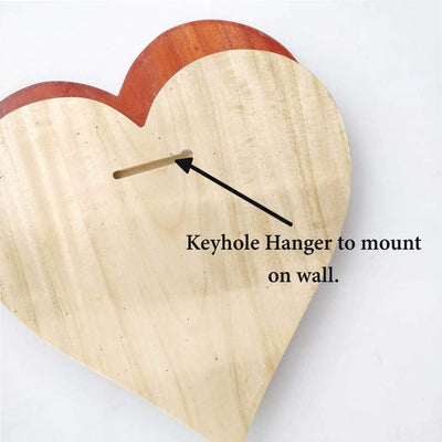 Customize Your Own Heart-Shaped Wooden Poster