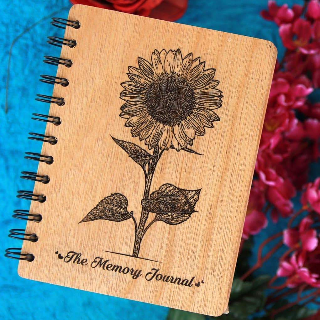 The Memory Journal - Personalized Wooden Notebook