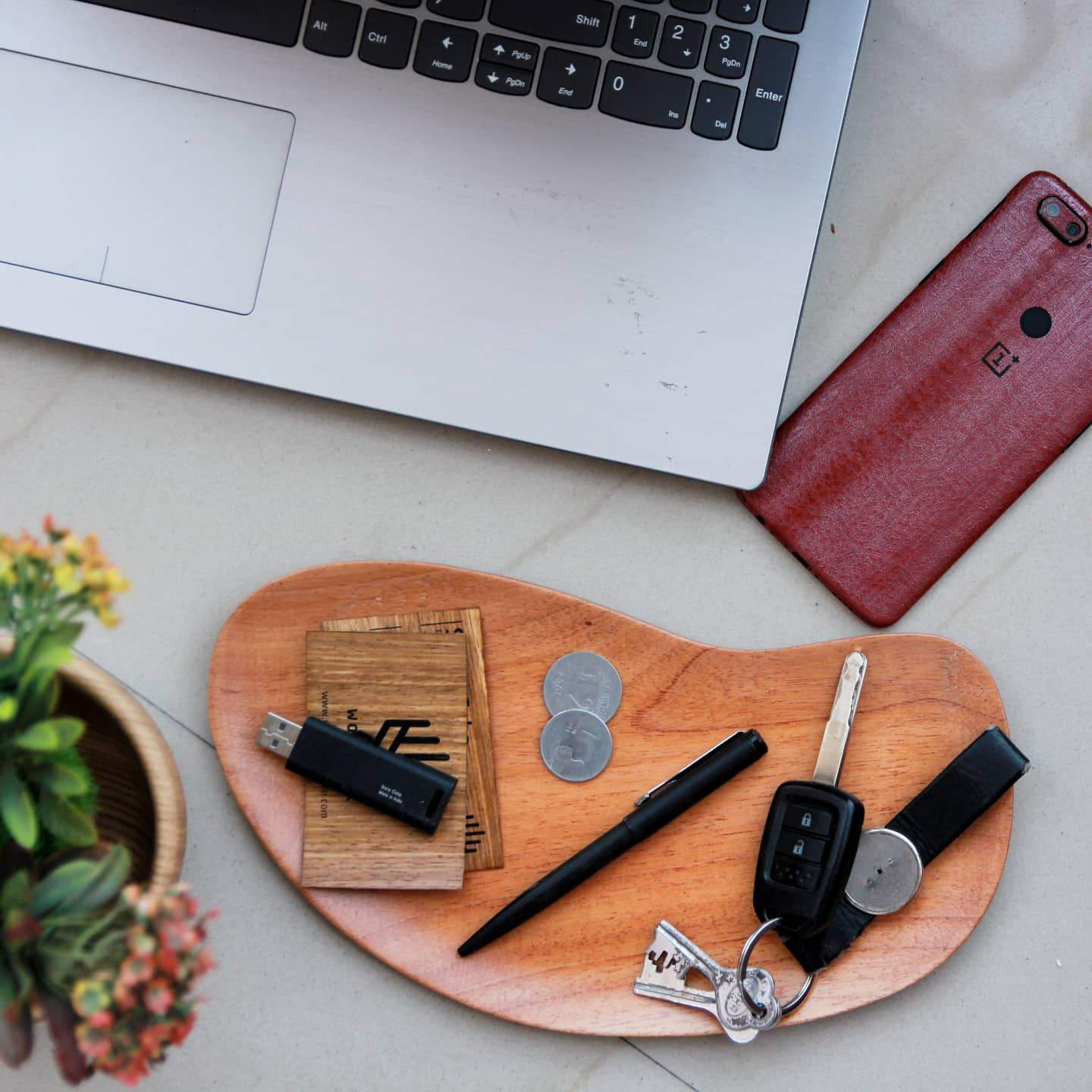 Wooden Office Desk Tray