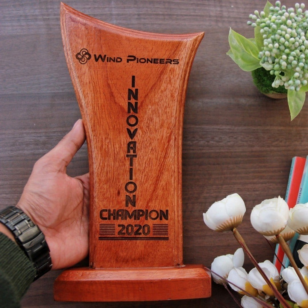 Wooden Award Standee for Office