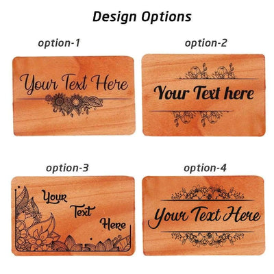 Wooden Greeting Card Design Options