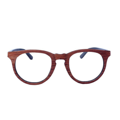 SUNGLASSES - The Geek - Rosewood Round Spectacles