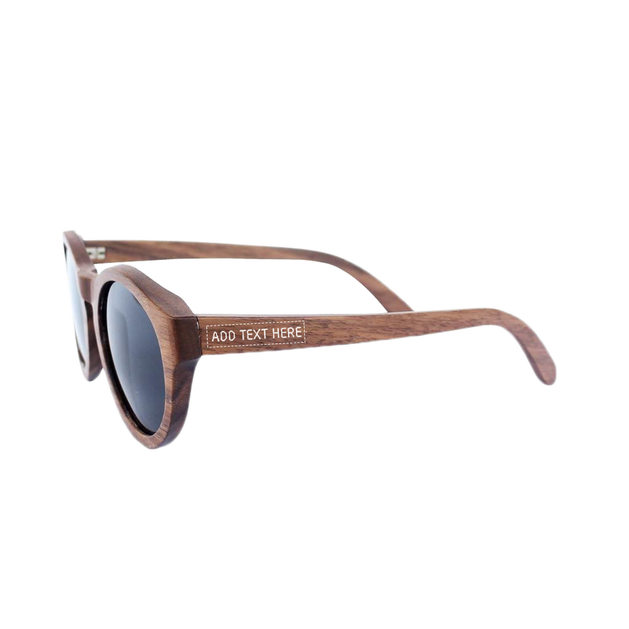 The Hipster - walnut wood round sunglasses