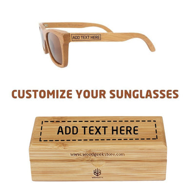 Personalized Wooden Sunglass With Custom Engraved Wooden Box As A Birthday Present