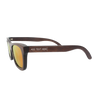 The Journeyman charcoal square wooden sunglasses - Red mirror lens