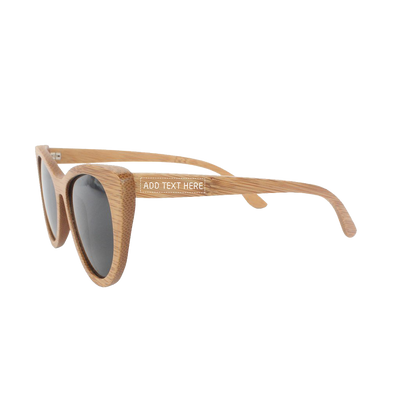 The Librarian - brown bamboo cateye wooden sunglasses