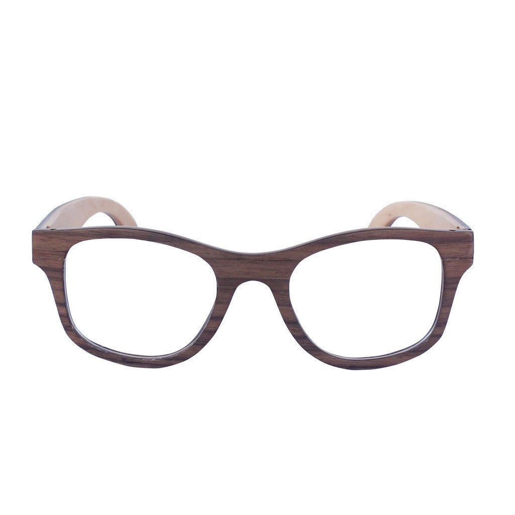 Walnut wood square spectacles - The Minimalist prescription glasses ...
