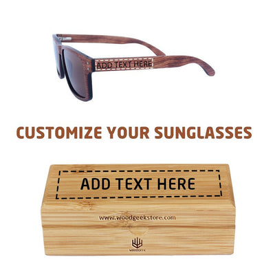 The Navigator - rosewood rectangular wooden sunglasses