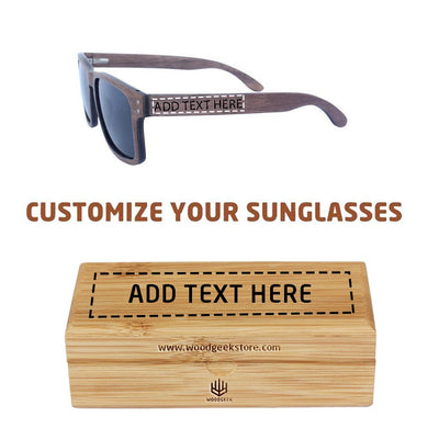 The Navigator - rectangular walnut wood sunglasses