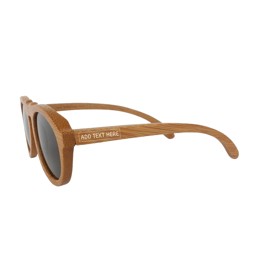 fa1fec3cc9 The Retro - brown bamboo wood round sunglasses
