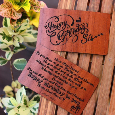 Wooden Greeting Cards - Custom Greeting Cards - Woodgeek Store