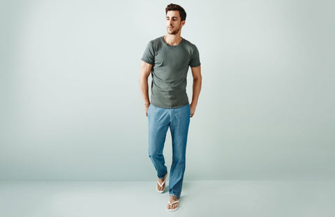 cotton t shirt with signature blend lounge pant
