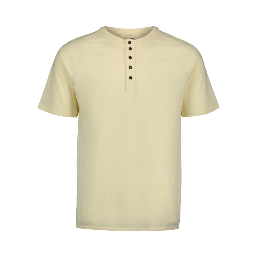 butter short sleeve tee with quarter buttons