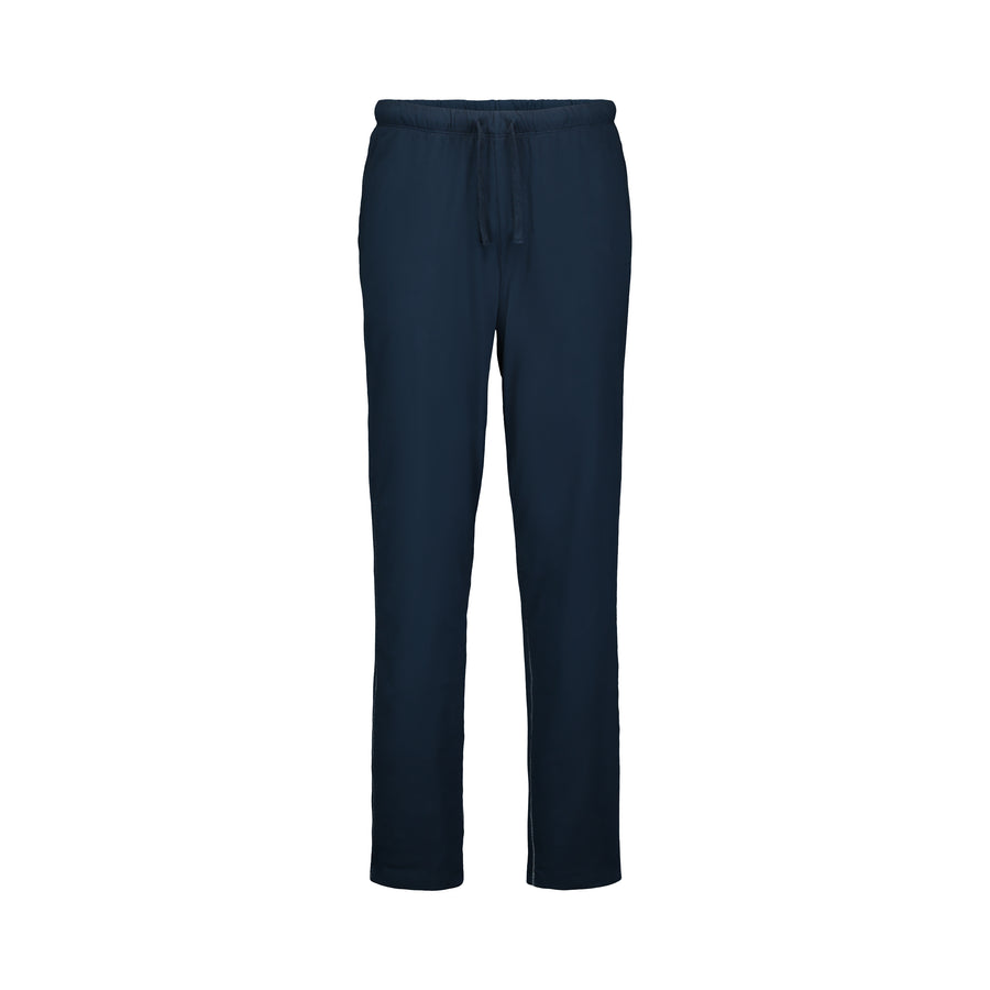 navy double faced cotton lounge pants