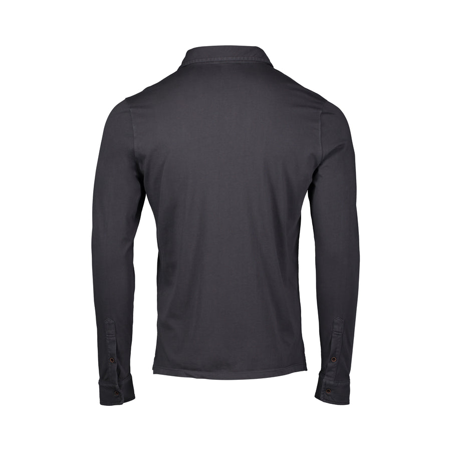 back of best selling charcoal l/s polo