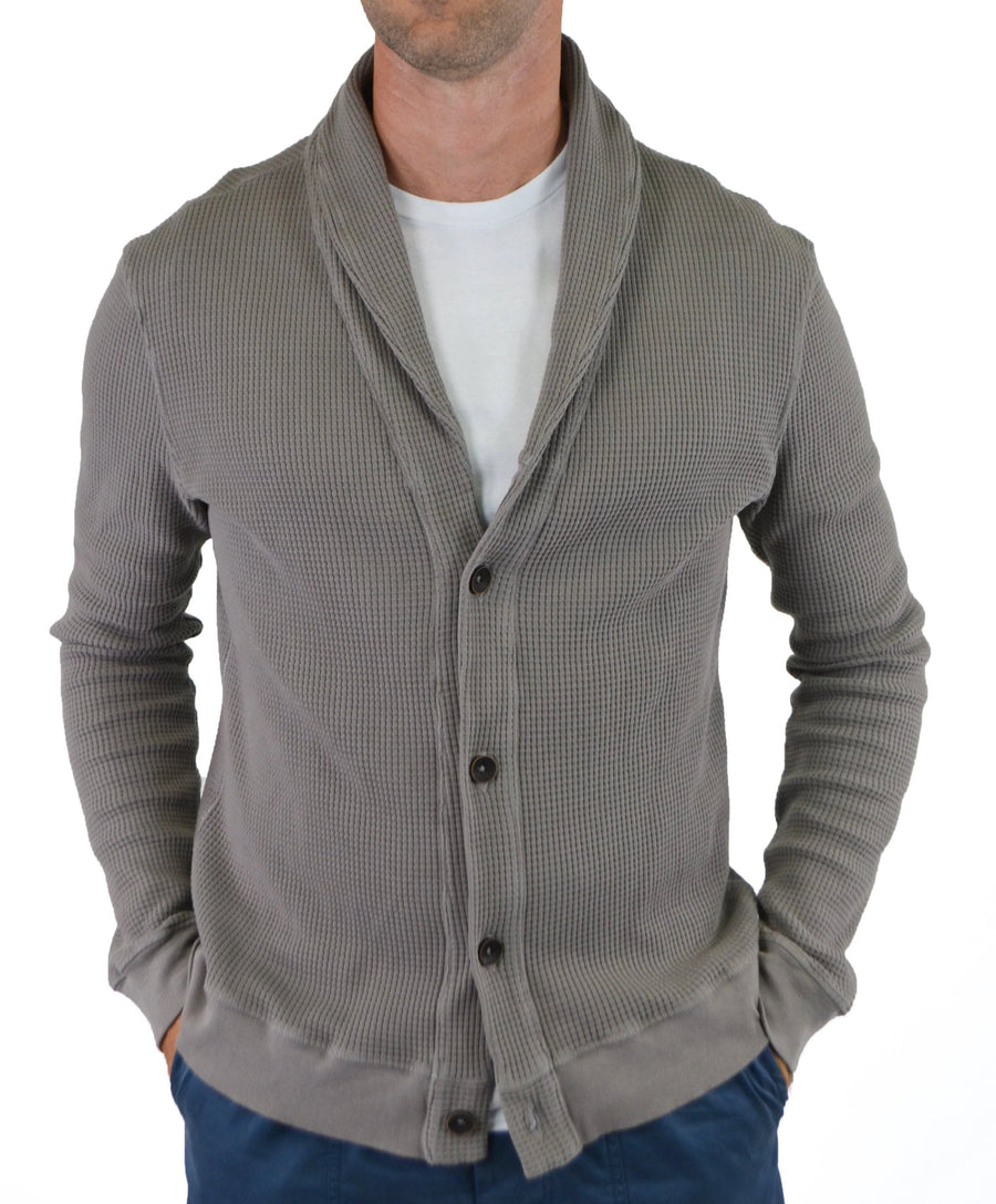 dovetail thermal collar cardigan