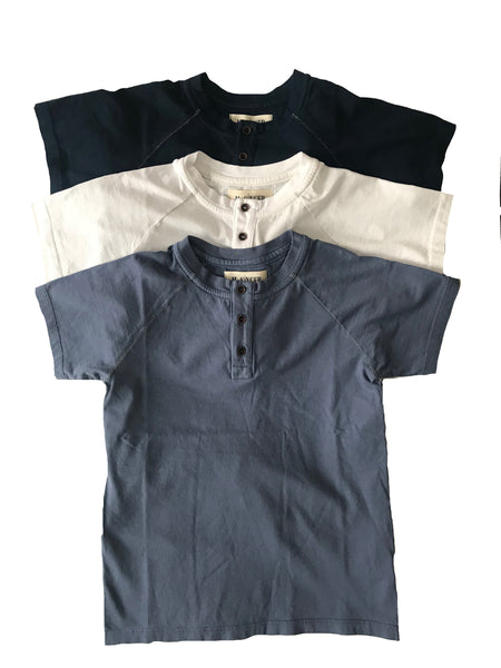 KIDS HENLEY- SHORT SLEEVE COTTON HENLEY