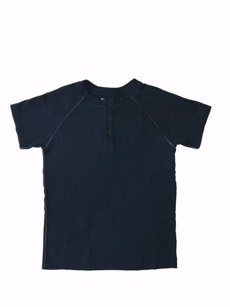 KIDS SHORT SLEEVE MAGIC WASH HENLEY