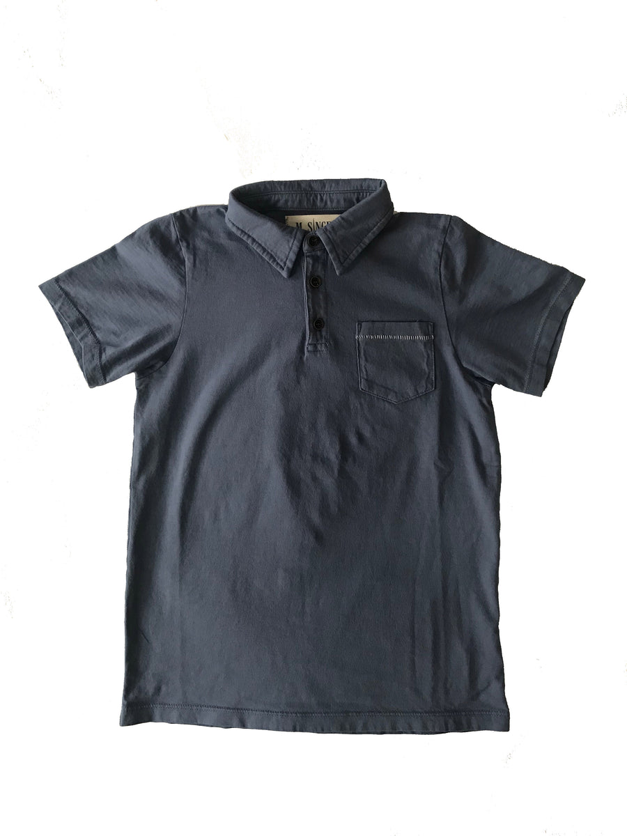 KIDS MAGIC WASH JERSEY POLO