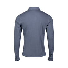 Load image into Gallery viewer, back of slate long sleeve polo