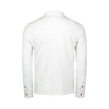 Load image into Gallery viewer, back of white long sleeve polo