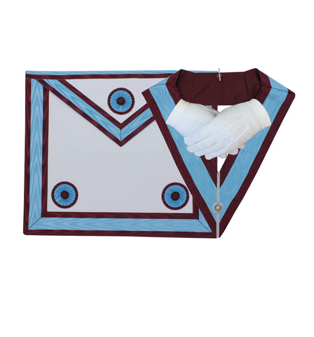 Masonic Regalia Mark Master Masons Apron and Officer Collar Set
