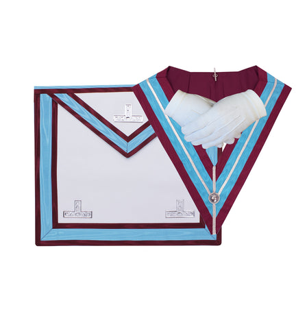 Masonic Regalia Mark Past Master WM Apron and Collar Set