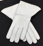 Masonic White Piper Drummer Leather Gauntlets/Gloves Plain - kitchcutlery  - 2