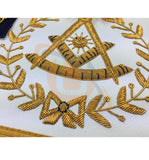 Copy of Masonic Blue Lodge Past Master Gold Handmade Embroidery Apron - kitchcutlery  - 3