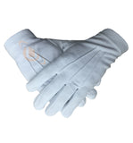 100% Cotton White Gloves - kitchcutlery  - 1