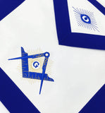 Masonic Blue Lodge Master Mason Apron Machine Embroidery Blue - kitchcutlery  - 2